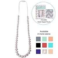 Goobie Baby Audrey Silicone Teething Necklace for Mom to Wear, Safe BPA Free ...