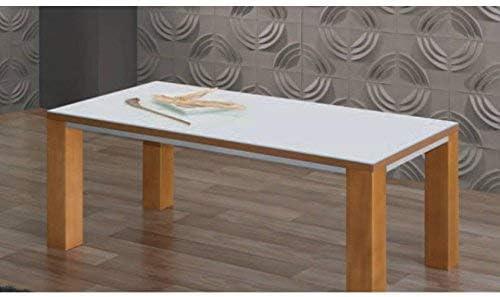 Mesa de Centro de Madera y Cristal Color 100 x 50 Mod. 15422 ...