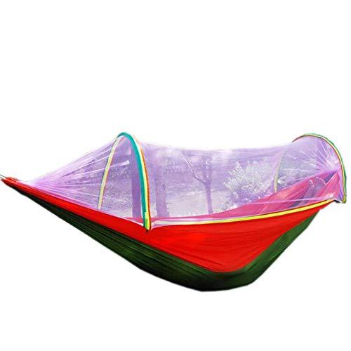Jcnfa-Hammock Fully Automatic Mosquito Net Hammock, Outdoor Single Double Parachute Cloth Ultra Light Mosquito Net Hammock -