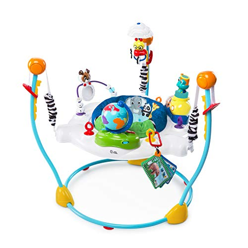 New! Baby Einstein Journey of Discovery Baby Jumper Activity, Entertainment, and Developmental Center with Lights and Melodies, Adjustable 4 Height Positions