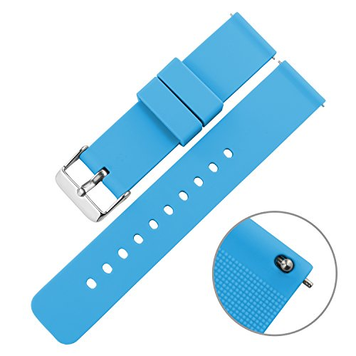 Swatch Replacement Rubber Strap Watch 22mm (Black) - 3