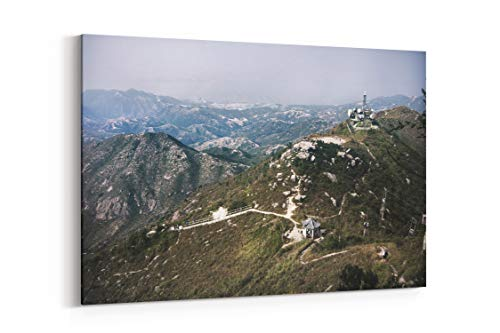 Mountain Mountain Range Hiking and Hike in Hong Kong - Canvas Wall Art Gallery Wrapped 40