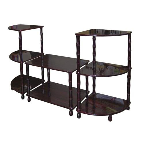 Price comparison product image ORE 3-Piece Wooden Accent Table Set,  Dark Cherry finish