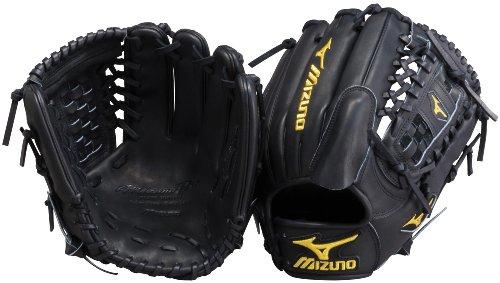Mizuno Pro Limited GMP11BK Baseball Fielder's Mitt, Black, 12-Inch, Left Handed Throw