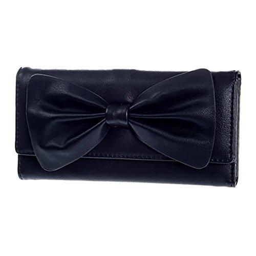 HT Trifold Wallet - Cartera de mano para mujer Rosso