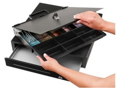 Bematech CD415 Economy Cash Drawer, Hardwired RJ12, Compatible with Epson or Star Printers, 16