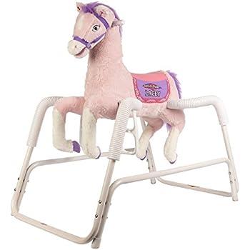 Amazon.com: Rockin\' Rider Lacey Talking Plush Spring Horse: Toys & Games