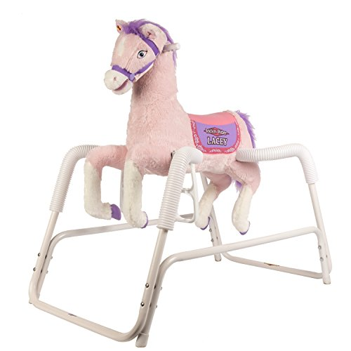 Rockin' Rider Lacey Talking Plush Spring Horse - Childs Rocking Horse