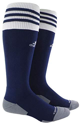 adidas Unisex Copa Zone Cushion II Soccer Sock (1-Pair), New Navy/White, 5-8.5