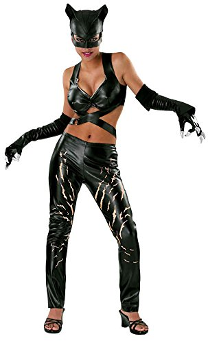 UHC Women's Dc Comics Catwoman Fancy Dress Halloween Themed Party Sexy Costume, (Catwoman Halloween Costume Cheap)