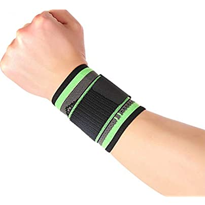 Professional Weaving Sports Wrist Brace Support Elastic Nylon Strap Wristband Fitness Gym Protector Wrist Wraps Green Estimated Price £8.19 -