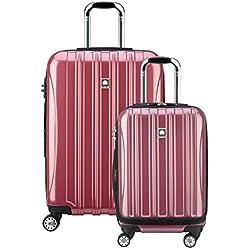"""Delsey Luggage Helium Aero Spinner Luggage Set (19""""/25""""), Peony"""