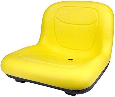 Yellow Flip Style Lawn Mower Seat for John Deere JD GT225 GT235 GT235E GT245