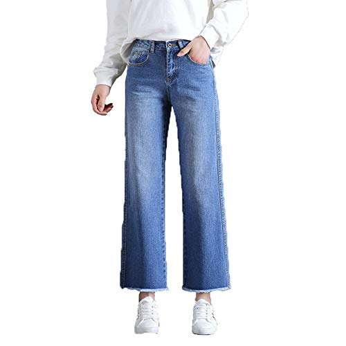 Vita Sottile Sciolto Myyw Accogliente Nove Pantaloni Gamba Rilassato Morbido Larga Libero Jeans Alta Donna Dritto Tempo 88vtqFwU