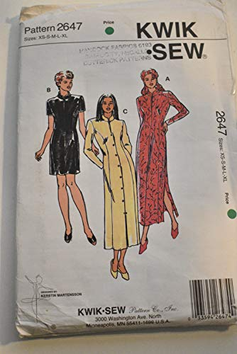 (Kwik Sew 2647 Fitted Princess Line Dress, Women's Size XS, S, M, L, XL)