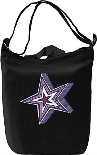Star Borsa Giornaliera Canvas Canvas Day Bag| 100% Premium Cotton Canvas| DTG Printing|