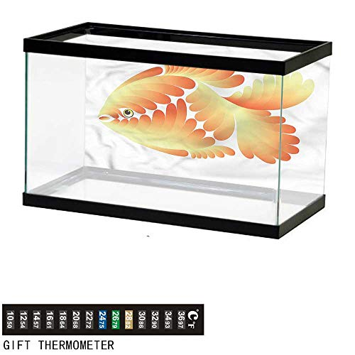 bybyhome Fish Tank Backdrop Aquarium,Artistic Abstract Goldfish,Aquarium Background,36