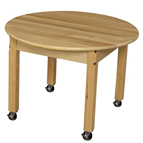 Wood Designs WD83018C6 - Mobile 30'' Round Hardwood Table with 18'' Legs by Wood Designs
