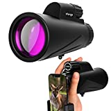 Monocular Telescope 12x50 High Power Prism BAK-4 Monoculars For Adults With Quick Smartphone Holder And Tripod Waterproof For Bird Watching Camping Outdoor Hiking Concert