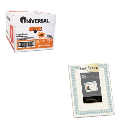 KITSOUCT3RUNV21200 - Value Kit - Southworth Parchment Certificates (SOUCT3R) and Universal Copy Paper (UNV21200)