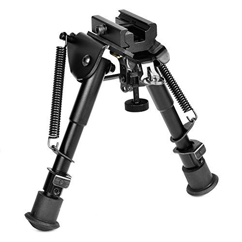 MidTen Tactical Rifle Bipod 6-9 Inches Adjustable Foldable Legs with Adapter for 20mm Rail by MidTen