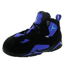 Nike Jordan Toddlers Jordan True Flight Bt Black/Bl Lgn/Anthrct/Brght Cncr Basketball Shoe 5 Infants US