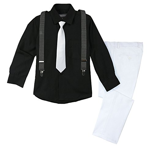 Spring Notion Big Boys' Halloween Inspired 4-Piece Outfit 11 Men in Black 05 -