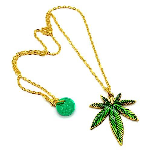 Mary Jane Pot Leaf Necklace - Mary Pot Leaf Jane
