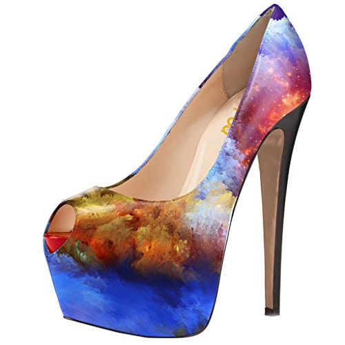 Multi Colored High Heel - 6
