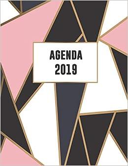 Agenda 2019: Trendy & Hippe Planner | Roze Goud Zwart Wit ...
