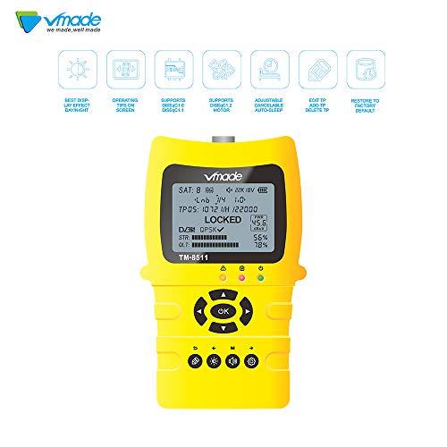 "Vmade Satellite Finder Digital TV Finder Meter with 3.5"" LCD Display/Built-in 3000mAh Battery DVB-S/S2 HD FTA Satellite TV Receiver"