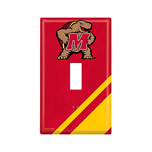 Maryland Terrapins Light - Maryland Terrapins Single Toggle Light Switch Cover NCAA
