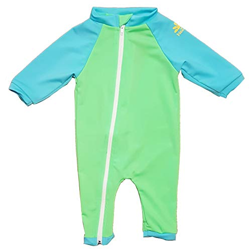 UPF 50+ in Your Choice of Colors Nozone Full Zip Sun Protective Baby Swimsuit