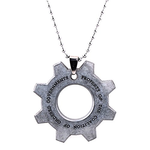 Gears of War Pendant Necklace Character Cartoon Superhero Gaming Console PC Games Logo Theme Cosplay Premium Quality Detailed Jewelry Gift Series