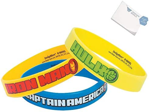 Bargain World Marvel Avengers Bracelets (With Sticky Notes)