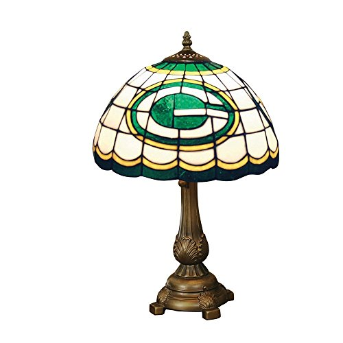 Green Bay Packers Desk Lamp - The Memory Company NFL-GBP-500 Green Bay Packers Tiffany-style Lamp, Green