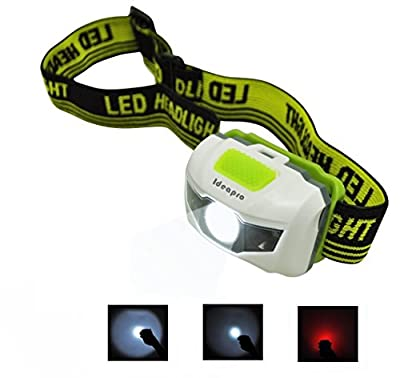LED Headlamp, IDEAPRO Adjustable Waterproof Super Bright Head Flashlight for Running, Mountain Climbing, Camping, Reading, Hiking, Night Walking, Biking and Kids