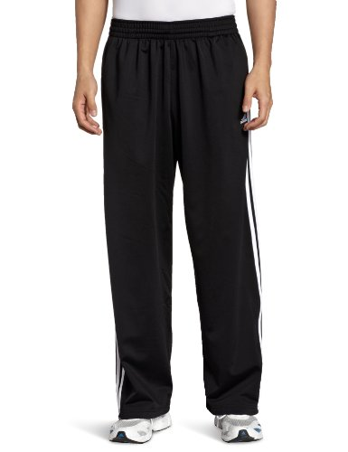 adidas Men's 3-Stripe Pant, Black/White, X-Large