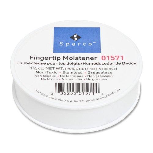 Sparco 01571 Fingertip Moistener, Nonskid Back, 1-3/4 oz. ()