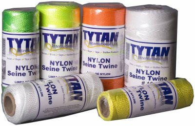 TYTAN INTERNATIONAL LLC 1000-Ft. #18 1-Lb. White Twisted Nylon Seine Twine - Twisted Nylon Seine Twine