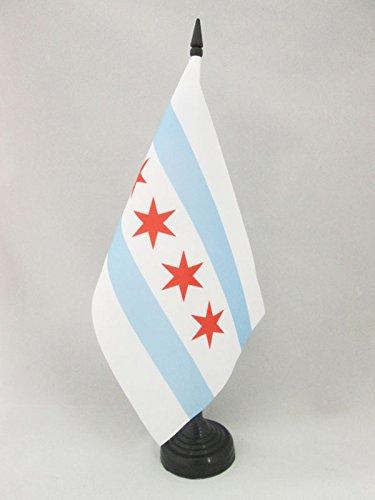 Illinois 14 x 21 cm AZ FLAG Bandiera da Tavolo Chicago 21x14cm Piccola BANDIERINA USA
