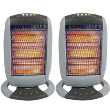 TOOL-GENIUS 2 X HALOGEN HEATER 400W/800W/1200W THREE POWER SETTINGS