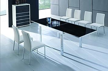 Noire Manhattan Extensible En Table Verre w0kXn8OP