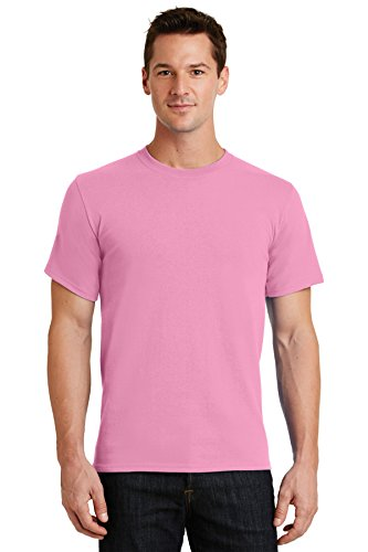 Port & Company Men's Essential T Shirt S Candy Pink