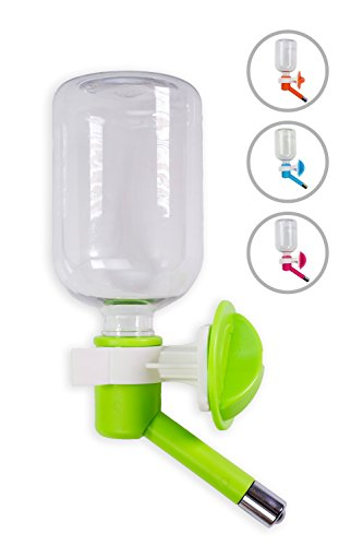FluffyPal Pet Water Dispenser - 10 oz - Innovative No Drip Pet Water Bottle - Portable & Easy Refill Crate Water Bottle For Dogs - Hydrate Your Pet While Away Or Sleeping - Suitable For Puppies Cats G