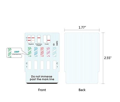 Easy@Home 5 Panel Instant Drug Test Kits (5 Pack) - Testing Marijuana (THC), COC, OPI 2000, AMP, BZO - Urine Dip Drug Testing - #EDOAP-754 by Easy@Home (Image #4)