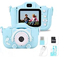 Cámara para Niños Cámara Digitale Selfie para Niños, HD 1200 MP/1080P Doble Objetivo, Ideales para niños de 3 a 12 años…