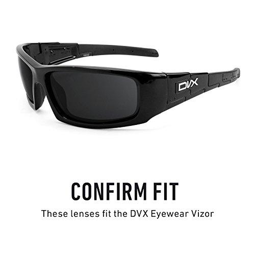 Verres de rechange pour DVX Eyewear Vizor — Plusieurs options Brun Gradient - Non-Polarisés