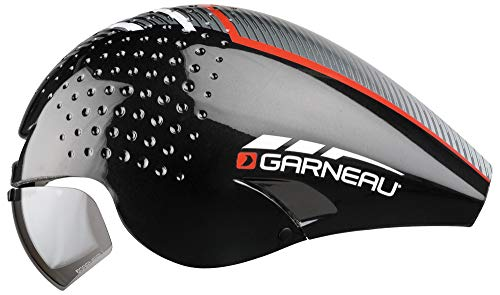 Louis Garneau LG P-09 Aerodynamic, CPSC Safety Certified, TT Bike Helmet, Black/Red, Medium (Best Aero Tt Helmet)