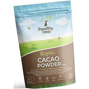 Polvere di Cacao Crudo Bio di TheHealthyTree Company per Yogurt, Frullati e Ricette da Forno - Alto Contenuto di… 1 spesavip